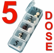 5 per Day Pill Box Weekly Pill Dispenser (5 x 7)