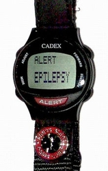 ALERT Bracelet (Color Black) [Health Condition] with Caduceus (962432) Looks like a normal Watch until you press ALERT