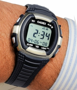 CADEX V8 Vibrating 8 Alarm Watch Vibration/Beep/Both Alarm