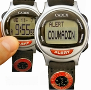 COUMADIN Bracelet ALERT looks like a normal Discreet Watch