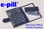 e-pill Multi Dose Pillbox Weekly Planner (820617)