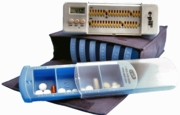 Weekly Pill Organizer with Alarm Timer 4 x 7 days (960615). Great for travelers.