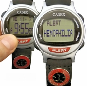 HEMOPHILIA Bracelet ALERT looks like a normal Discreet Watch