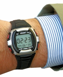Vibration Watch 6, 8 or 12 Daily Alarms (Vibration, Beep or BOTH)