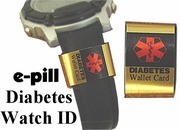 Watch Medical ID DIABETES  (SKU 994878) / MEDICAL CONDITION (SKU 993787)