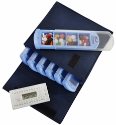 e-pill Weekly 4 Doses per Day Pill Box Organizer System with Daily Timer