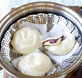Steamed Buns with Sweet Red Bean Paste
