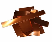 3 lbs Copper Sheet Remnant Pieces- 5 Mil only