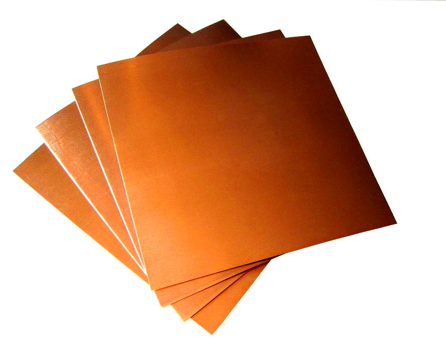 """8 Mil/ 12"""" X 12"""" Copper Sheets (pk of 4)"""