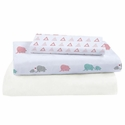 Bamboo Muslin Crib Sheet Set