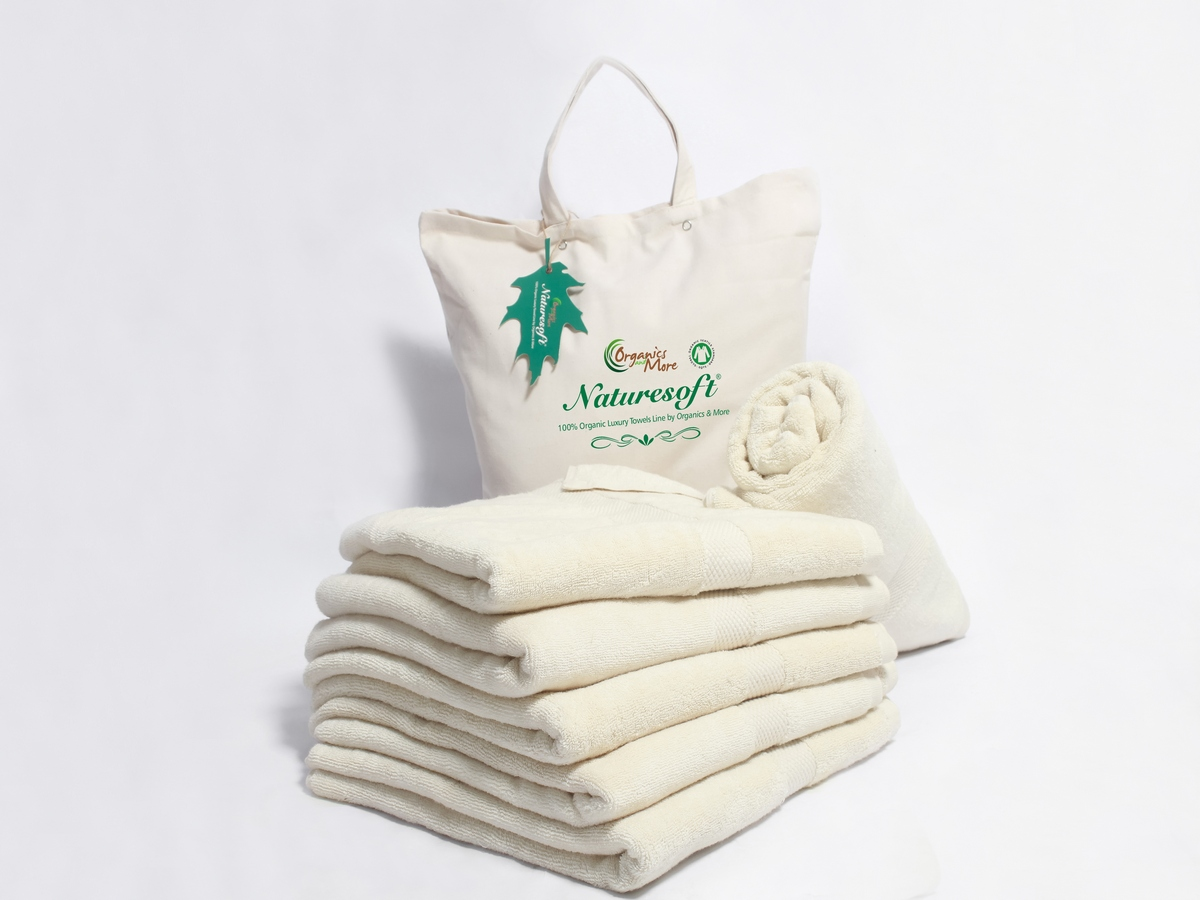 Organic Cotton Bath Towel Eco Friendly All Natural Chemical Free