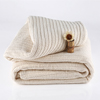Organic Cotton Stripe Chenille Herringbone Throw