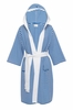 Organic Cotton Striped Knee-Length Jersey-Knit Robe