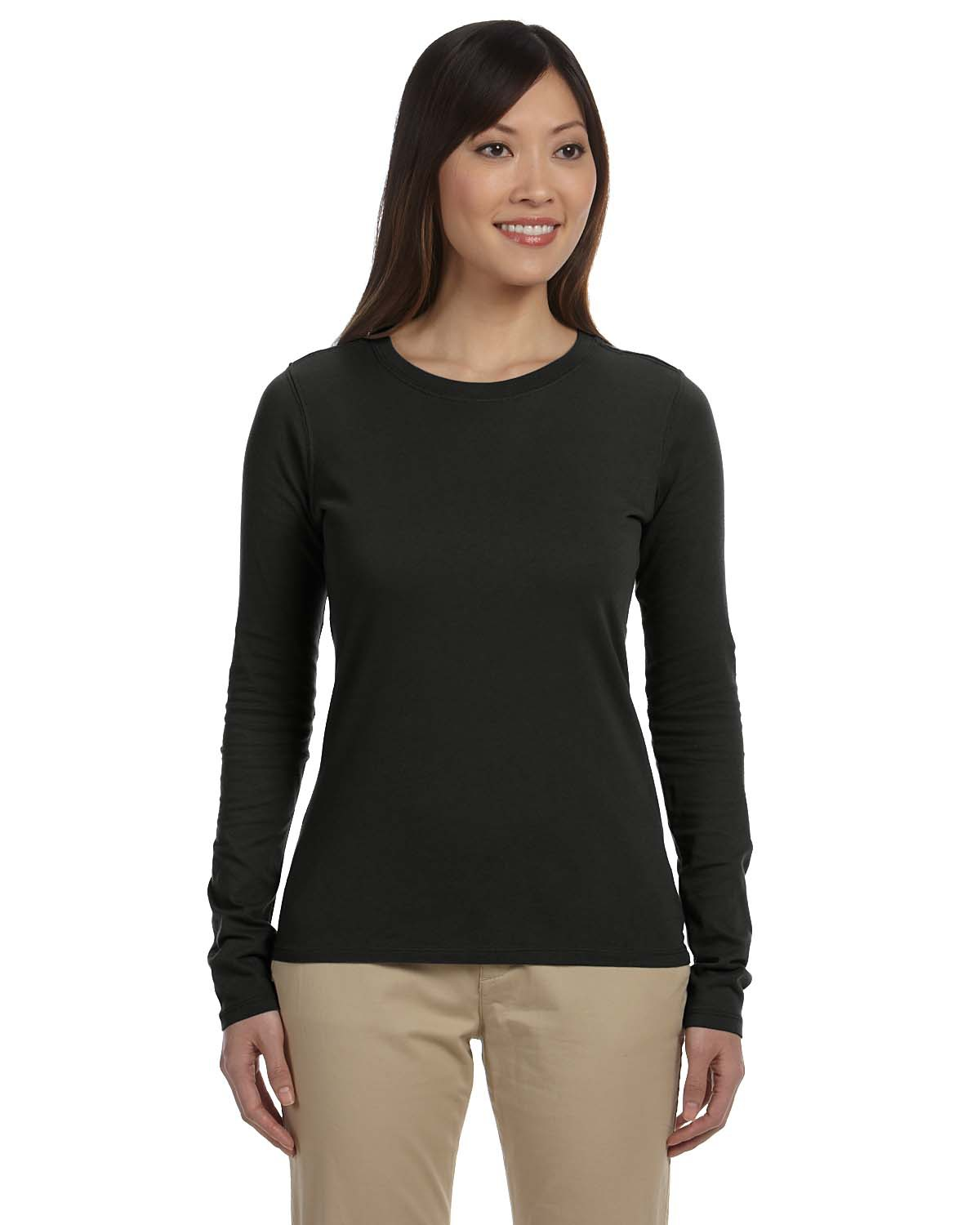 Certified Organic Cotton Women's Classic Long-Sleeve T-Shirt Tee