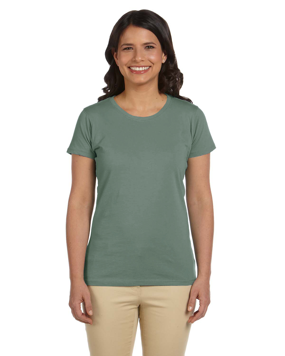 Certified organic cotton women 39 s classic short sleeve t for Natural cotton t shirts