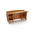Sustainable Bamboo 60-Inch Straight Desk With Shelves