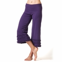 Women's Organic Cotton Ruffle Capri