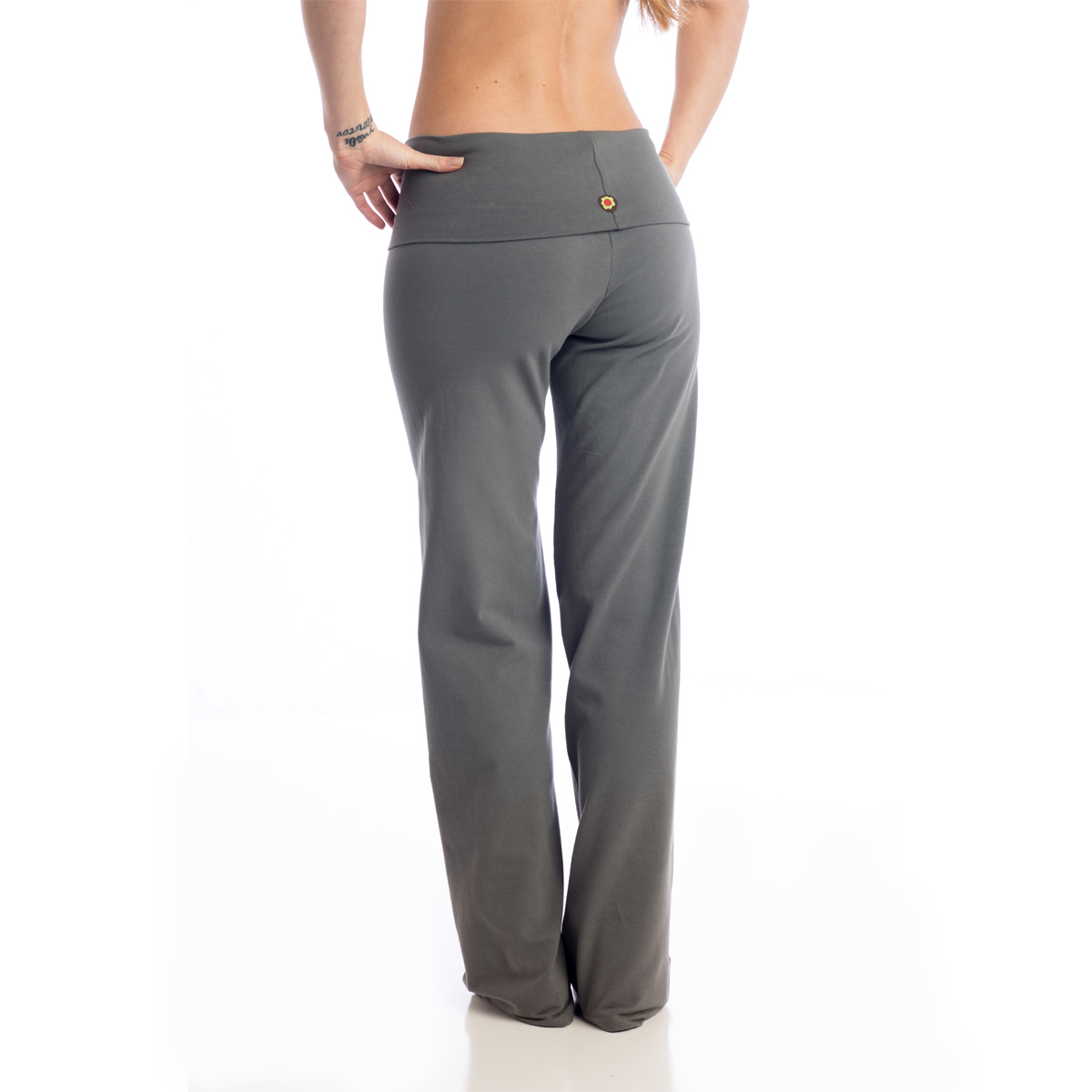 Women's Organic Cotton Wide-Leg Pant Yoga Wisdom Long