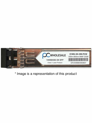 E1MG-SX-OM - 1000BASE-SX 550m MMF 850nm SFP