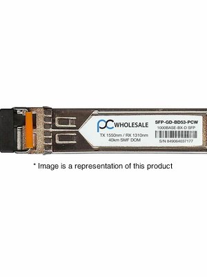 SFP-GD-BD53 - 1000BASE-BX-D Bi-Directional 40km SMF 1550nm/1310nm SFP