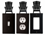 OUTLET, GFI, SWITCH COVERS, ADIRONDACK CHAIR, WROUGHT IRON