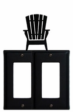 Double GFI Cover, Adirondack Chair, Wrought Iron