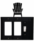 Double GFI and Switch Cover, Adirondack Chair, Wrought Iron