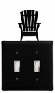 Double Switch Cover, Adirondack Chair, Wrought Iron