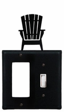 GFI and Switch Cover, Adirondack Chair, Wrought Iron