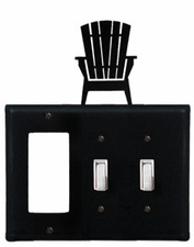 GFI and Double Switch Cover, Adirondack Chair, Wrought Iron