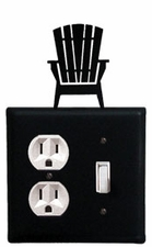 Outlet and Switch Cover, Adirondack Chair, Wrought Iron