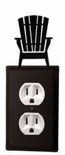 Outlet Cover, Adirondack Chair, Wrought Iron