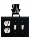 Outlet and Double Switch Cover, Adirondack Chair, Wrought Iron