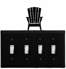 Quad Switch Cover, Adirondack Chair, Wrought Iron
