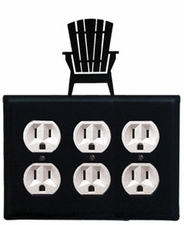 Triple Outlet Cover, Adirondack Chair, Wrought Iron