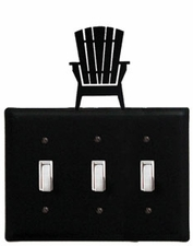 Triple Switch Cover, Adirondack Chair, Wrought Iron