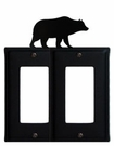Double GFI Cover, Bear, Wrought Iron