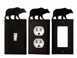OUTLET, GFI, SWITCH COVERS, BEAR, WROUGHT IRON
