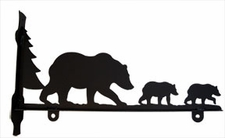 Sign Bracket, Bear Family, Wrought Iron, 18 Inch