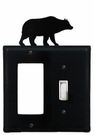 GFI and Switch Cover, Bear, Wrought Iron