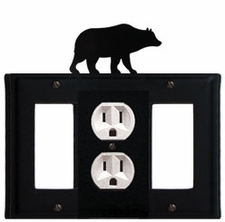 GFI, Outlet and GFI Cover, Bear, Wrought Iron