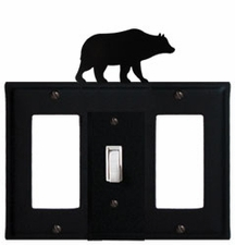 GFI, Switch and GFI Cover, Bear, Wrought Iron