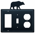 GFI, Switch and Outlet Cover, Bear, Wrought Iron