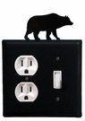 Outlet and Switch Cover, Bear, Wrought Iron