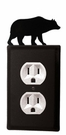 Outlet Cover, Bear, Wrought Iron