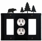 GFI, Outlet and GFI Cover, Bear & Pine Trees, Wrought Iron