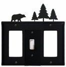 GFI, Switch and GFI Cover, Bear & Pine Trees, Wrought Iron