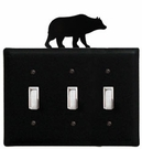Triple Switch Cover, Bear, Wrought Iron