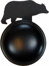 Cabinet Door / Drawer Knob, Bear, Wrought Iron