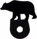 Silhouette for Cabinet Door, Bear, Black Wrought Iron